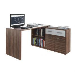 Rohový psací stůl RAFAEL NEW švestka / bílá Tempo Kondela
