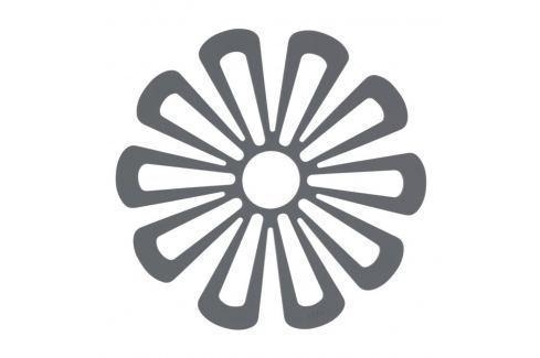 Silikonová podložka pod hrnce květina 15,8 cm tmavě šedá Podložky pod hrnce a pánve