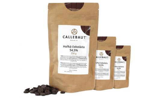 Hořká čokoláda Callebaut 54,5% 750 g (3 x 250 g) Čokoláda na vaření