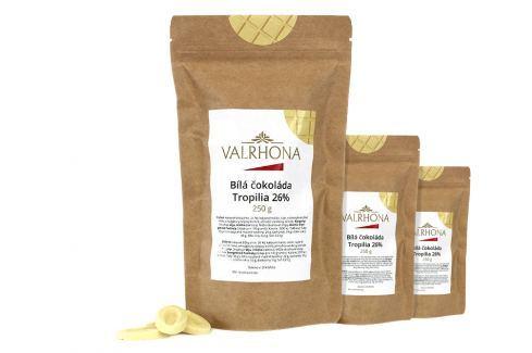 Bílá čokoláda Tropilia Valrhona 26% 750 g (3 x 250 g) Čokoláda na vaření