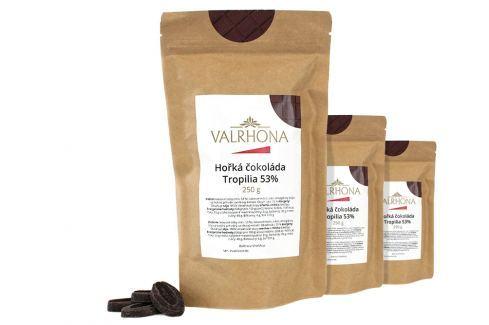 Hořká čokoláda Tropilia Valrhona 53% 750 g (3 x 250 g) Čokoláda na vaření