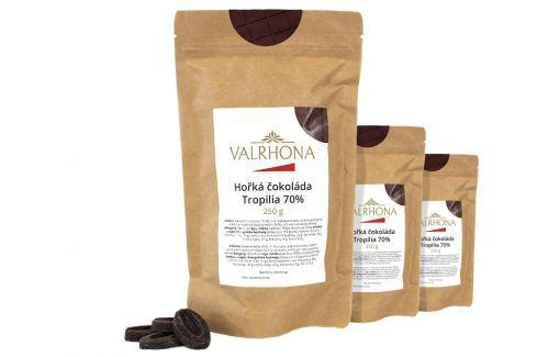 Hořká čokoláda Tropilia Valrhona 70% 750 g (3 x 250 g) Čokoláda na vaření
