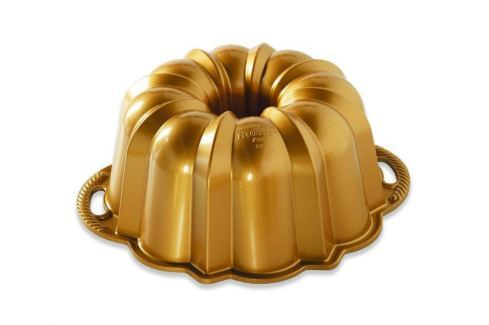 Nordic Ware Forma na bábovku Anniversary, zlatá střední Formy na bábovku