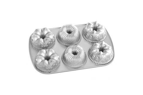 Nordic Ware Forma na 6 malých bábovek Garland  stříbrná 6 x 240 ml Formy na bábovku