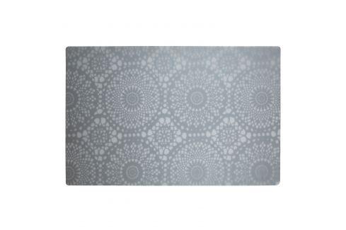 KJ Collection Prostírání s květinovým vzorem šedá 44 x 28,5 cm Prostírání