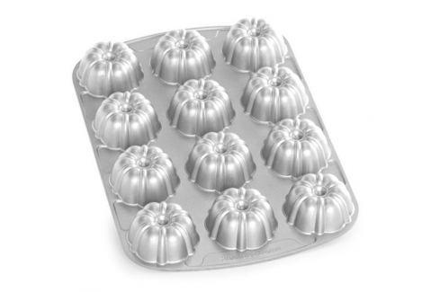 Nordic Ware Forma na 12 báboviček Bundt stříbrná 12 x 60 ml Formy na bábovku