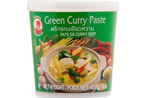 Thajská zelená kari pasta Cock Brand 400 g Pasty