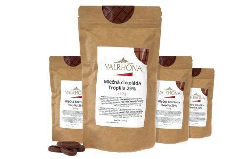 Mléčná čokoláda Tropilia Valrhona 29% 1 kg (4 x 250 g) Čokoláda na vaření