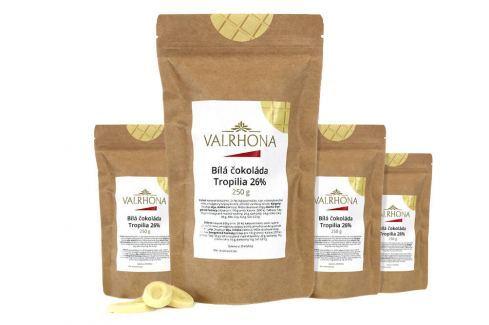 Bílá čokoláda Tropilia Valrhona 26% 1 kg (4 x 250 g) Čokoláda na vaření