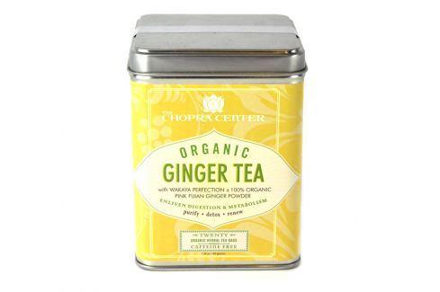 Harney & Sons Ginger Organický zázvorový Chopra bylinný čaj 20 sáčků v plechové krabičce Ovocné a bylinné čaje