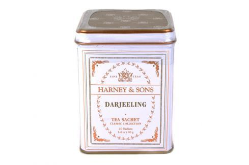 Harney & Sons Darjeeling čaj 20 sáčků v plechové krabičce Zelené čaje