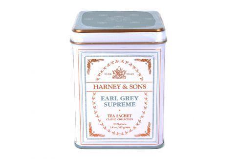 Harney & Sons Earl Grey Supreme Classic černý čaj 20 sáčků v plechové krabičce Černé čaje