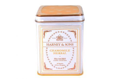 Harney & Sons Chamomile Herbal heřmánkový bylinný čaj 20 sáčků v plechové krabičce Ovocné a bylinné čaje