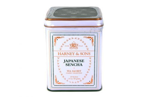 Harney & Sons Sencha japonský zelený čaj 20 sáčků v plechové krabičce Zelené čaje