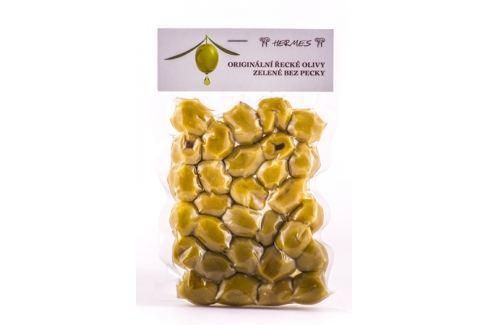 Zelené olivy bez pecky Hermes 140 g Nakládané speciality