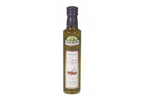 Extra panenský olivový olej s česnekem a chilli Farchioni 250 ml Olivové oleje
