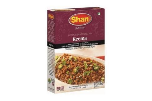 Směs koření Keema na mleté maso Shan 50 g Koření