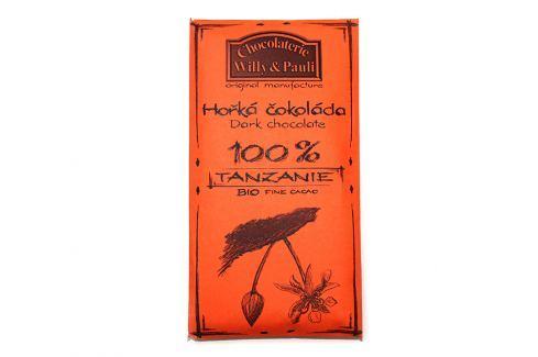 BIO Hořká čokoláda 100% Tanzánie Willy & Pauli 50g BIO tabulková čokoláda