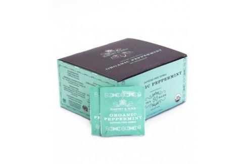Harney & Sons Peppermint Organický mátový bylinný čaj 50 sáčků Ovocné a bylinné čaje