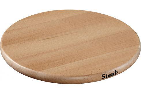 Staub Dřevěná podložka pod hrnce, magnetická, kulatá, 23 cm Podložky pod hrnce a pánve