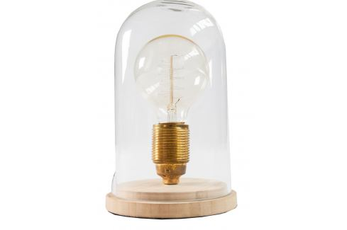 Moebel Living Skleněná retro stolní lampa Alva Skladovky
