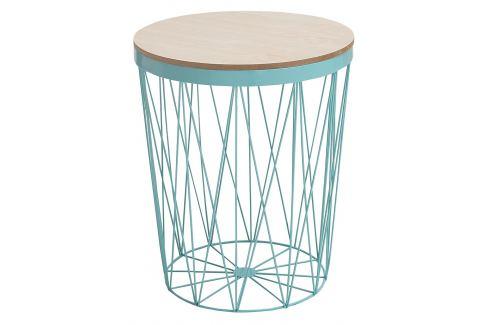 Moebel Living Mintově zelený kulatý odkládací stolek Ronde 37 cm Skladovky