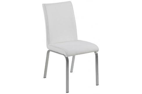 SCANDI Bílá jídelní židle Leona Skladovky
