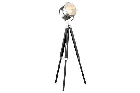 Moebel Living Černá kovová stojací lampa California II. Skladovky