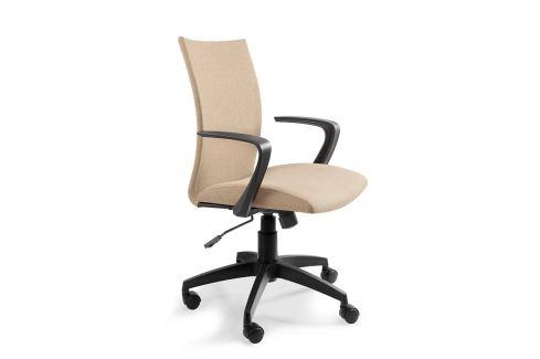 OfficeLab Béžová čalouněná kancelářská židle Alcock Skladovky
