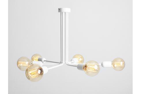 Nordic Design Bílé kovové závěsné světlo Trimo 41 cm Osvětlení