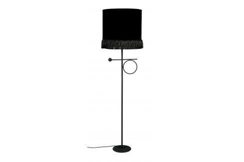 Černá kovová stojací lampa DUTCHBONE Loyd Osvětlení