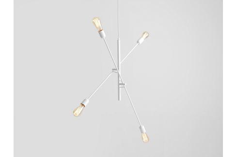 Nordic Design Bílé kovové závěsné světlo Staple 4 Osvětlení