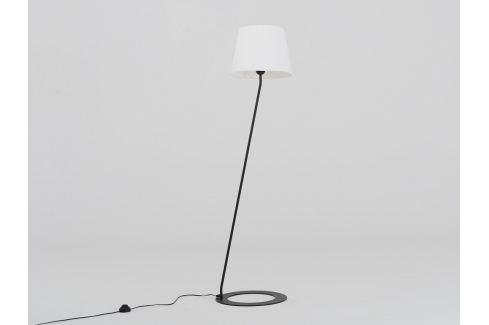Nordic Design Černá kovová stojací lampa Shadow s bílým stínidlem Osvětlení