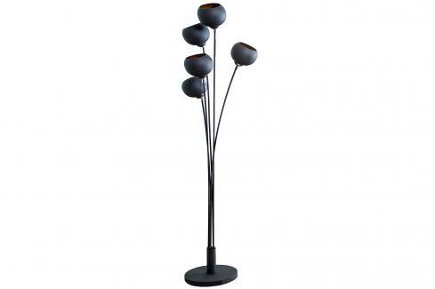 Moebel Living Černozlatá kovová stojací lampa Volcano 170 cm Stojací lampy