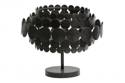 Hoorns Černá kovová stolní lampa Dots Stolní lampy