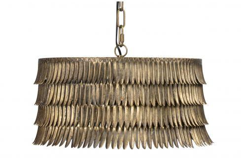 Hoorns Mosazné kovové závěsné světlo Hula 43 cm Závěsná svítidla