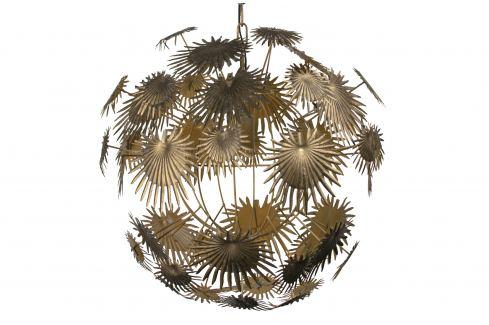 Hoorns Mosazné kovové závěsné světlo Thistle 55 cm Závěsná svítidla