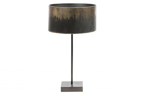 Hoorns Černo zlatá kovová stolní lampa Bessie Stolní lampy