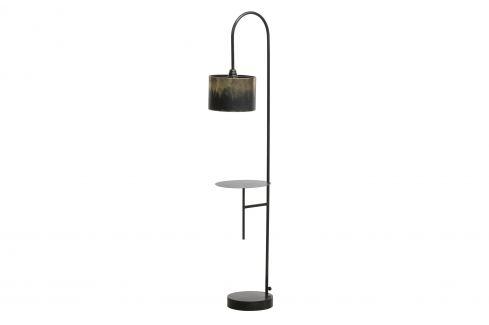 Hoorns Černo zlatá stojací lampa Bessie Stojací lampy