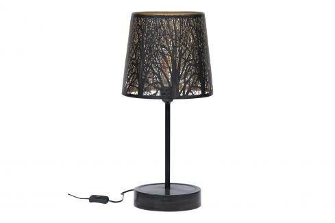 Hoorns Černo zlatá kovová stolní lampa Pumba Stolní lampy
