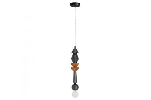 Černé kovové závěsné světlo LaForma Jellis 39 cm Závěsná svítidla