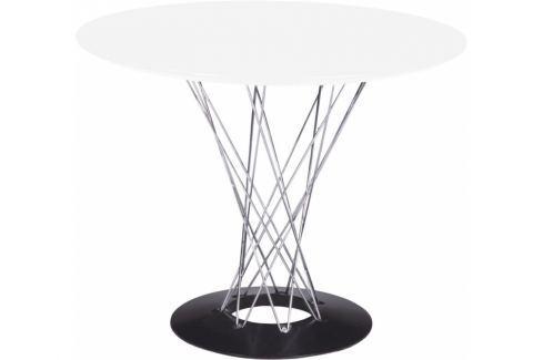 Stůl Cyklon bílý, 100 cm | -20 % S17560 CULTY + Lakované