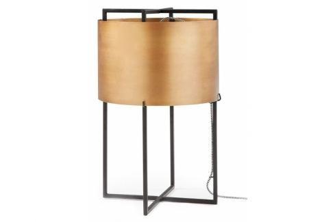 Stolní lampa LaForma Kelley, kov, černá/zlatá AA0031R53 La Forma Stolní lampy