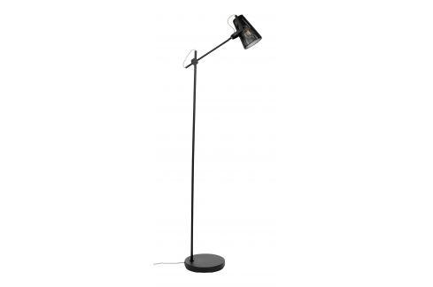 White Label Living Černá kovová stojací lampa WLL Fokus Osvětlení