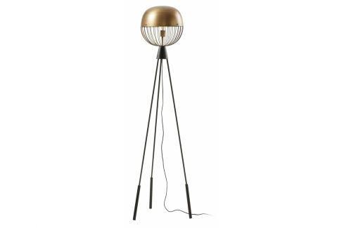 Stojací lampa LaForma Breeza, kov, černá/zlatá AA0010R53 La Forma Stojací lampy