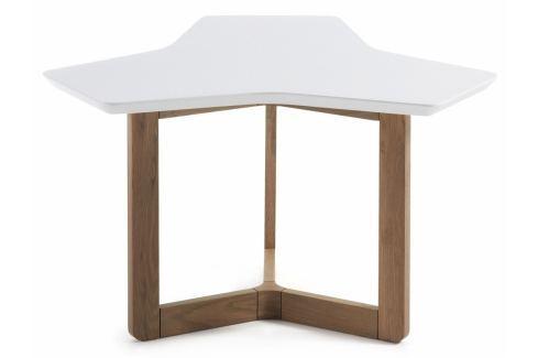 Konferenční stolek LaForma Triangle 76 cm, bílá/dub C315L05 La Forma Konferenční stolky