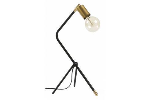 Stolní lampa LaForma Klara, kov, černá/zlatá AA2014R01 La Forma Stolní lampy