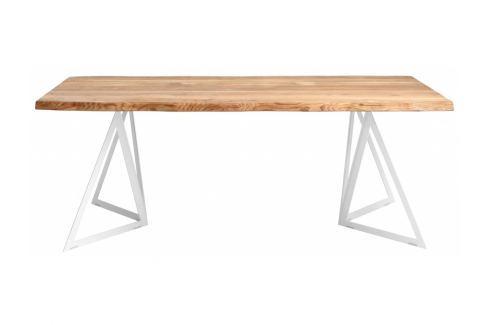 Jídelní stůl Geometric 200x100 cm, dub Nordic:100961 Nordic Masivní