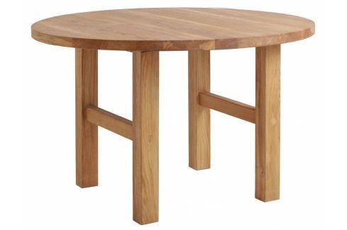 Jídelní stůl Alani 120 cm, dub Nordic:100962 Nordic Masivní