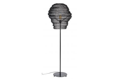 White Label Living Černá kovová stojací lampa WLL LENA 154 cm Stojací lampy